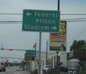 Federal prison, stadium