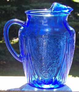 Cobalt blue Depression glass