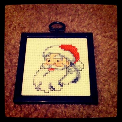 Cross stitch Santa complete