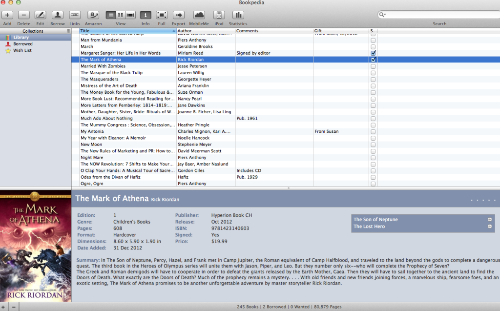 Bookpedia library interface