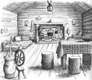 Fireplace illustration Garth Williams