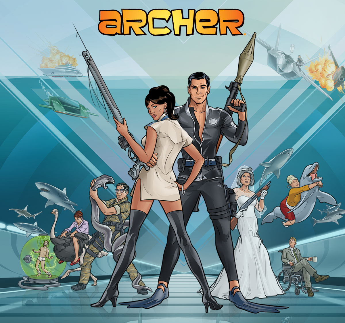 FX cartoon Archer