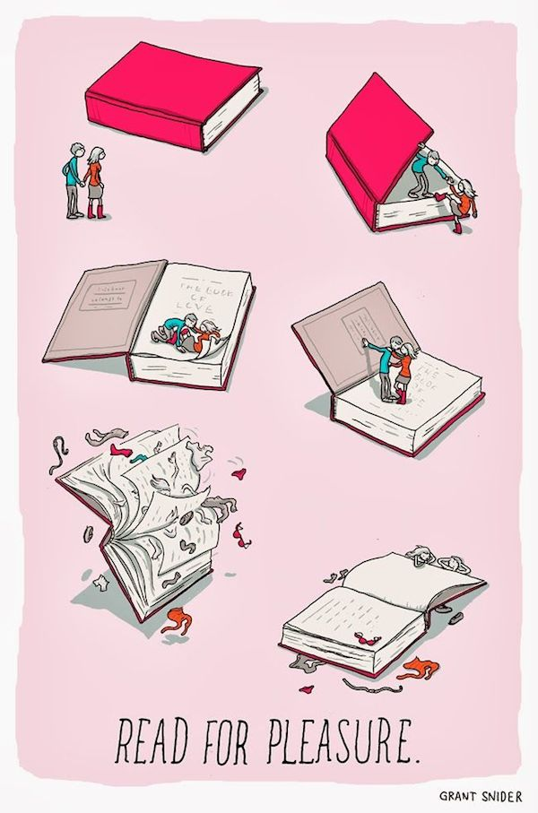 Read for pleasure, Grant Snider